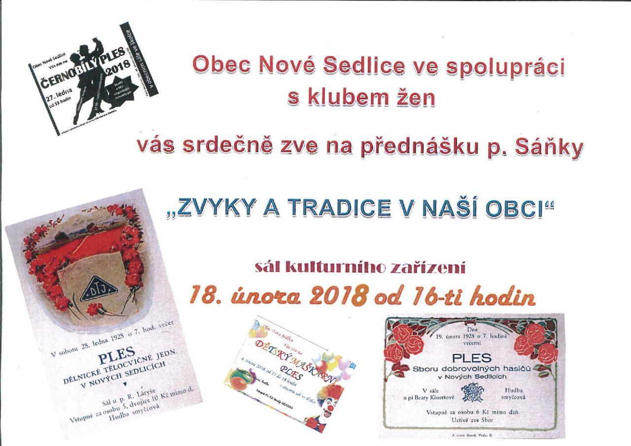přednáška Nové Sedlice