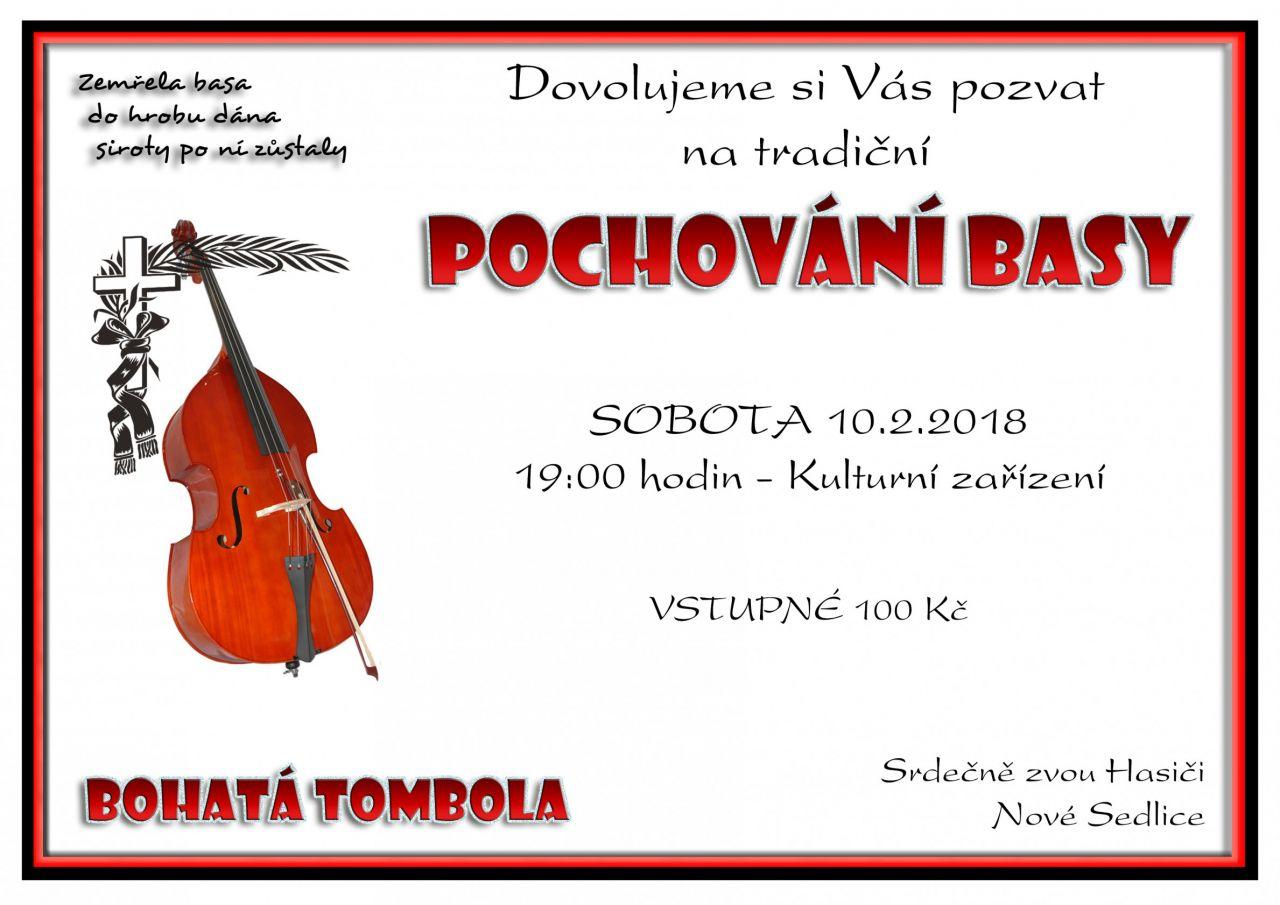 Pochování basy v Nových Sedlicích 2018